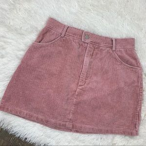 k+k pink corduroy highwaisted skirt